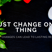 Just Change One Thing