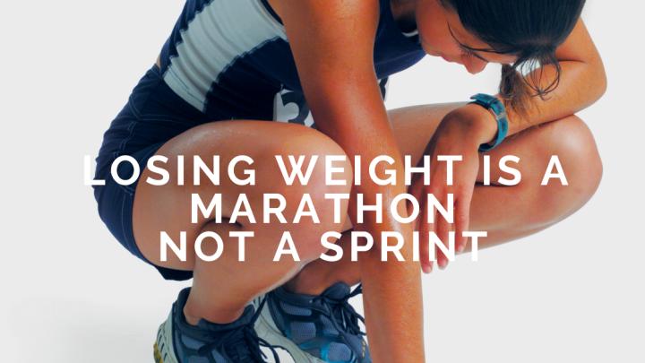 Losing weight is a Marathon not aSprint