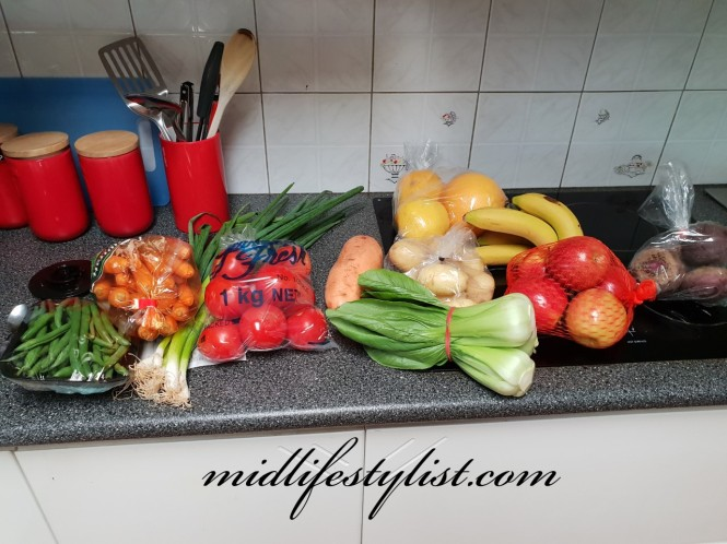 My weekly haul from the markets includes a variety of fruit and vegetables