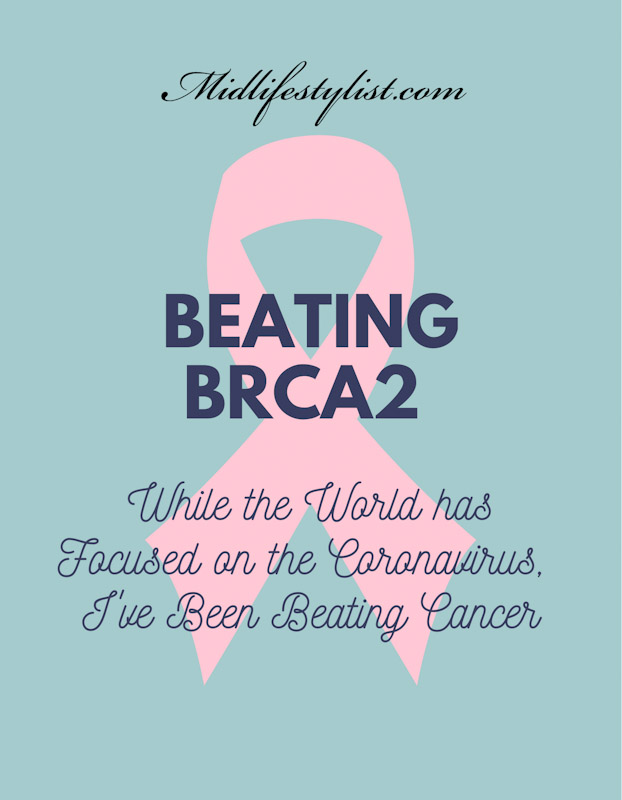 Beating BRCA2.  While the world has focused on the Coronavirus, I have been beating cancer.  BRCA2 gene mutation increases my risk of breast, ovarian and pancreatic cancer.
