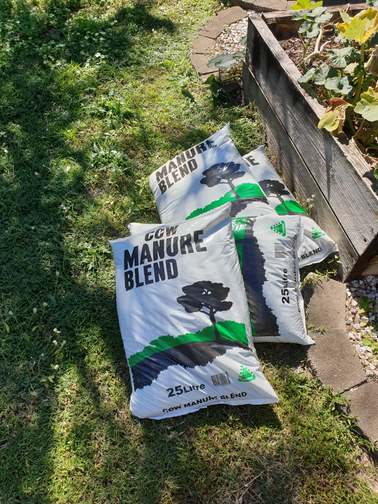What you need to start a garden from scratch - cow manure is one of the ingredients.
