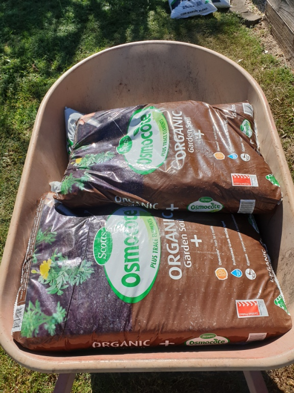 What you need to start a garden from scratch - organic garden soil is one of the ingredients