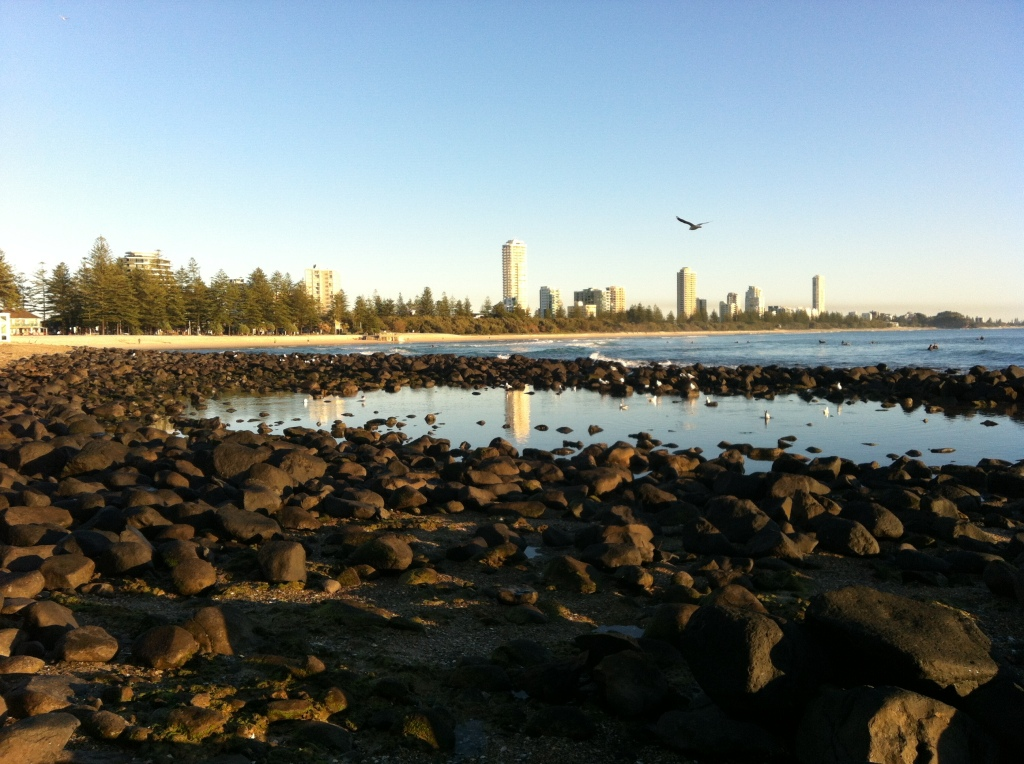 Burleigh Beach, Gold Coast, Australia.  Home of the Yugambeh people